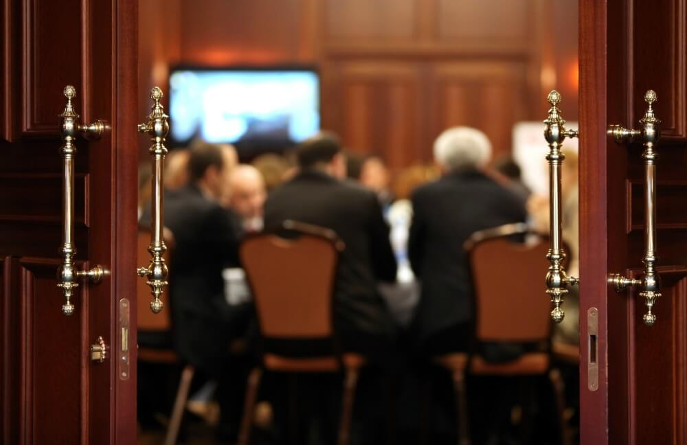 Business borrowing being discussed in a boardroom